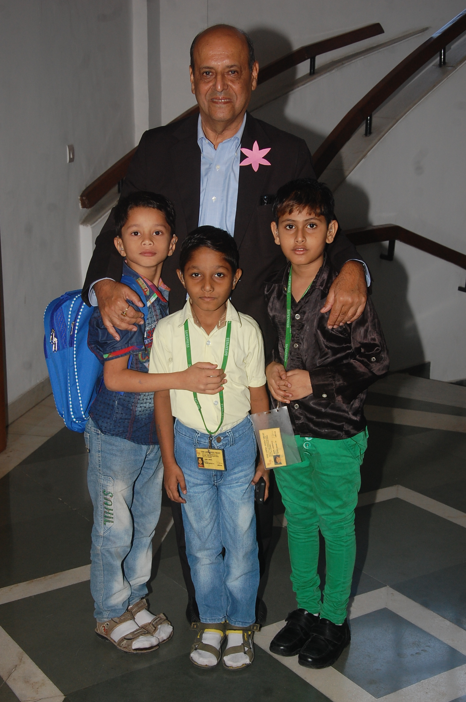 Mr Chawla With Hearing impaired children