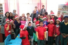 Hearing Impaired Children celebrating Christmas with the Founder