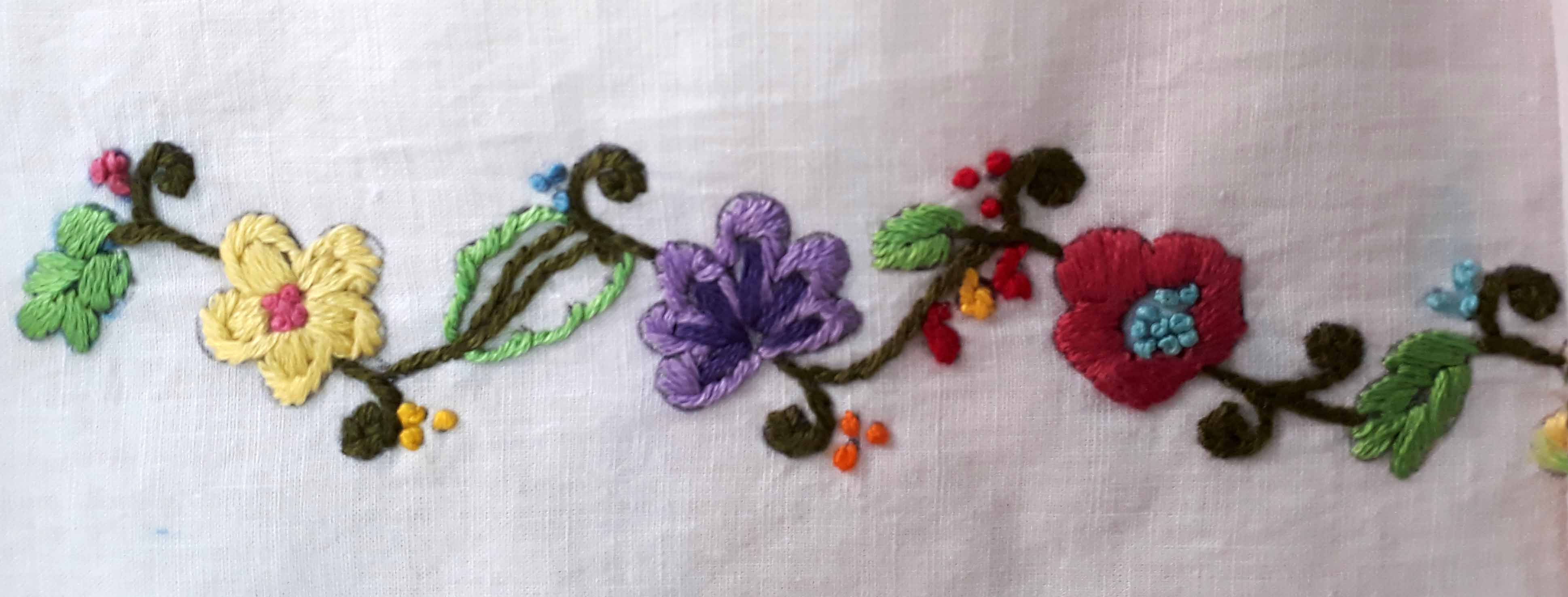 Embroidery by our students